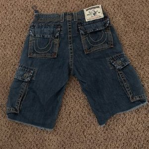 True Religion Men's Cargo Shorts Size 30
